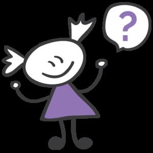 Bild: Comic eines Mädchens mit Sprechblase. In der Sprechblase befindet sich ein Fragezeichen.